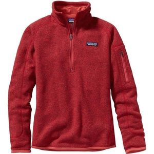 Patagonia Better Sweater, red, S, women's fleece